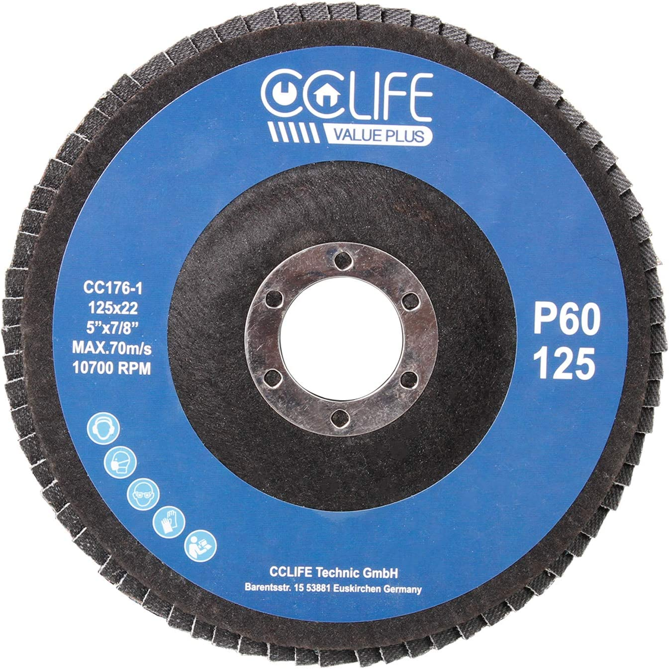 CS Cosddi Lot de 300 disques de pon/çage de 5,1 cm avec 1 tampon arri/ère de 6,35 mm et 1 tampon de pon/çage en mousse souple 80# 120# 180# 240# 400# 600# 1000# 2000# 3000# 5000#