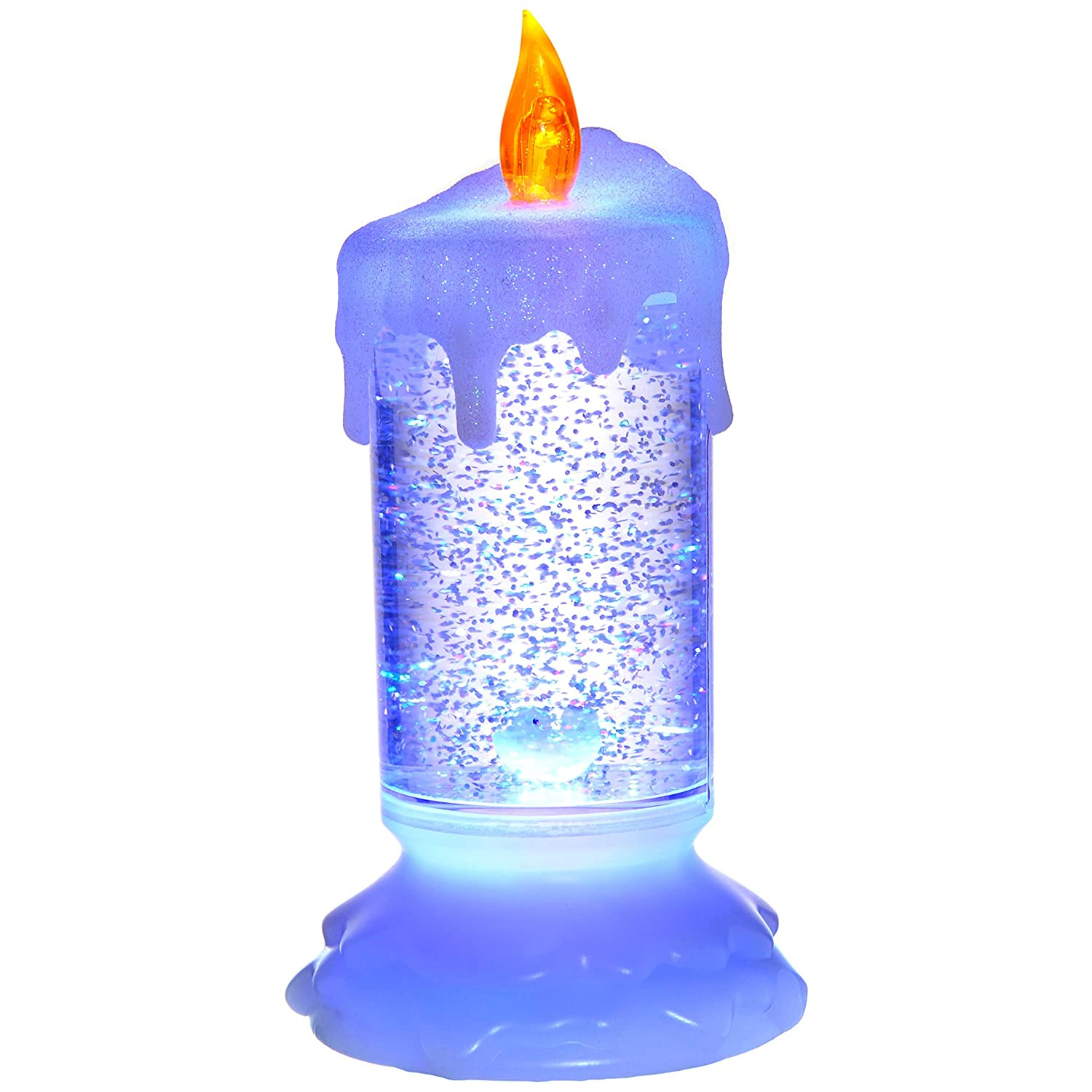 Multi-Colour WeRChristmas Pre-Lit LED Magical Colour Changing Floating Glitter Candle 19 cm