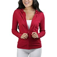 ToBeInStyle Women's Long Sleeve Full Zip-Up Thermal Hoodie