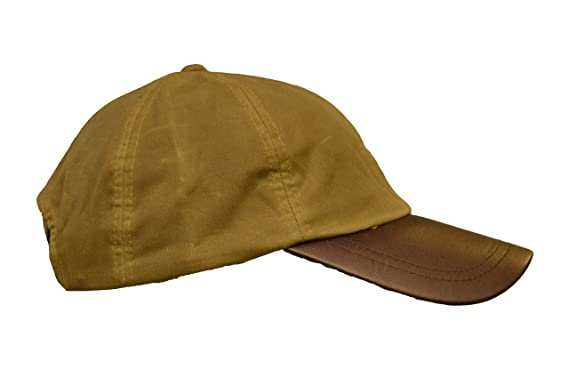 5ff5b006c46 Walker and Hawkes Men s Wax Baseball Cap Waxed Cotton Leather Peak One-Size  Beige at Amazon Men s Clothing store