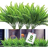 8PCS Artificial Flowers Outdoor UV Resistant Plants, 8 Branches Faux Plastic Corn-flower Greenery Shrubs Plants Indoor Outsid