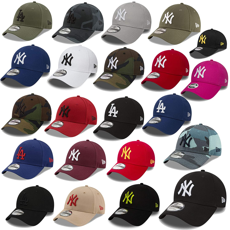 3cb829e5e476 New Era 9forty Strapback Casquette MLB Yankees de New York Los Angeles  Dodgers Hommes Femmes Casquette ...