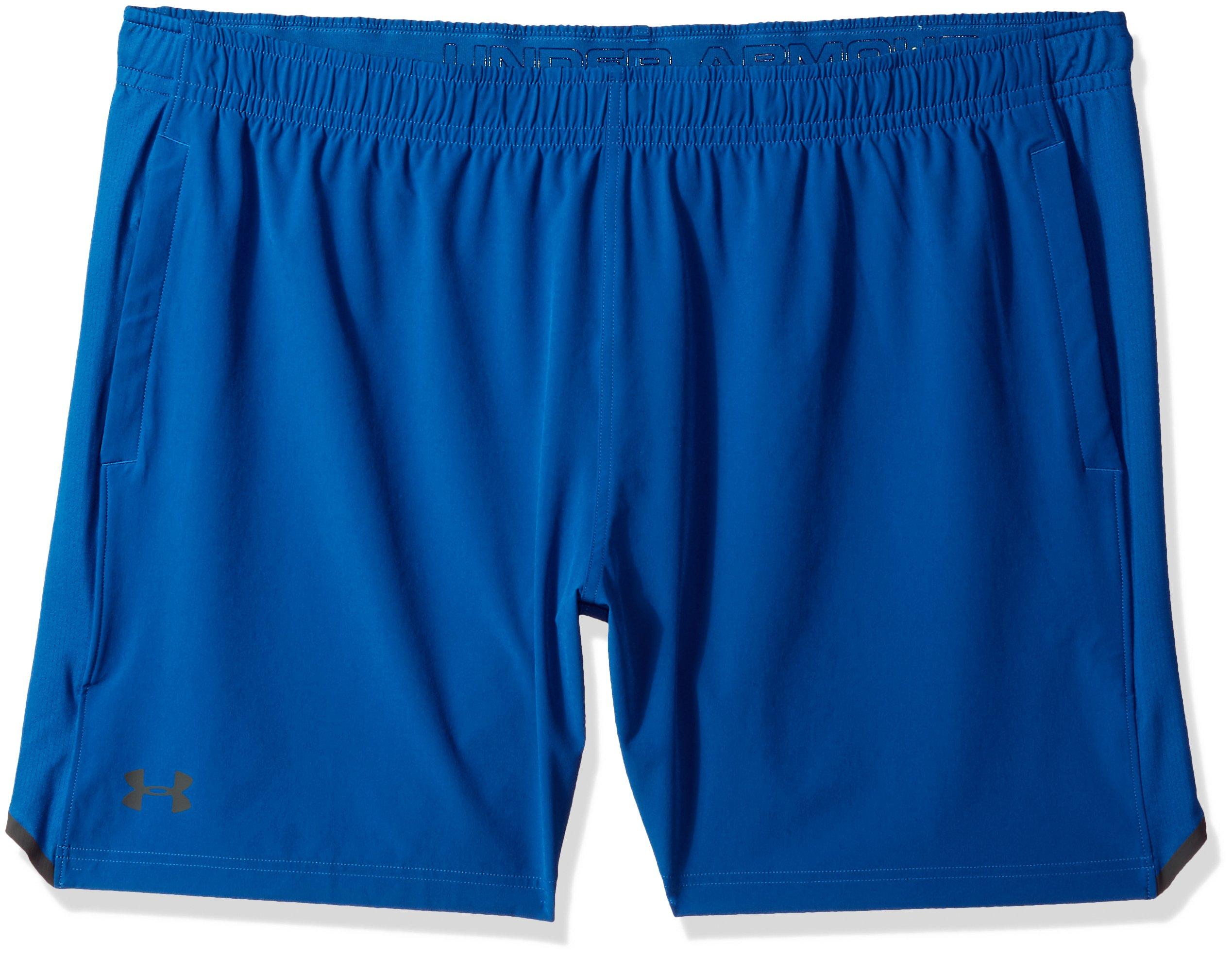 Under Armour Men's Forge 7'' Tennis Shorts, Moroccan Blue (487)/Black, XXX-Large