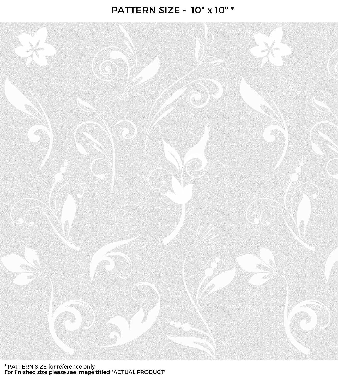 windowpixブラック&ホワイト抽象Fleurデザインステンドグラスウィンドウフィルムドアウィンドウプライバシーフィルム非粘着Static Cling Filmつや消しプライバシーウィンドウフィルム 18x36 WF-18x36-WF123-1 B00WN0LNYC 18x3618x36