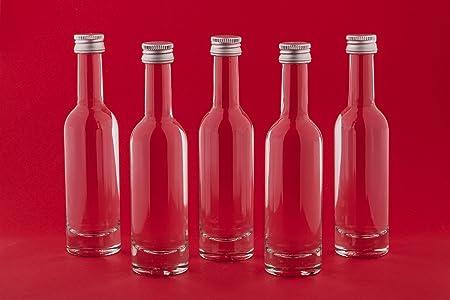 slkfactory 40Botellas vacías 50ml Bormioli pequeñas en Miniatura Botellas Licor Botellas Botellas de Vino NR 40ml