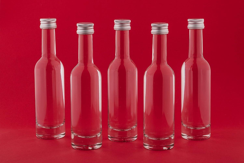 24 x Small Bottles 50 ml Brandy Bottles BOR 1st Class Glass Liqueur ...