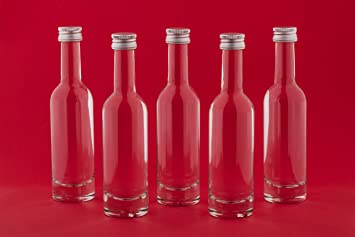 24 botellas de vidrio vacías BORDO 0,05 l botellas de zumo de botellas de