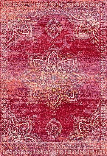 Luxe Weavers Nuvola Oriental Pink 5×7 Area Rug