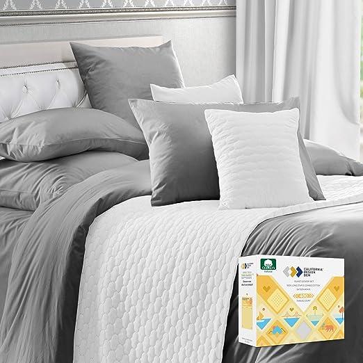 Amazon.com: California Design Den 100% Real Cotton Duvet Cover Set - Premium 400 Thread Count, Comfortable Bedding Set, Smooth Sateen Weave, Button Closure and Corner Ties (3 Piece, Dark Gray, Oversized King): Home & Kitchen
