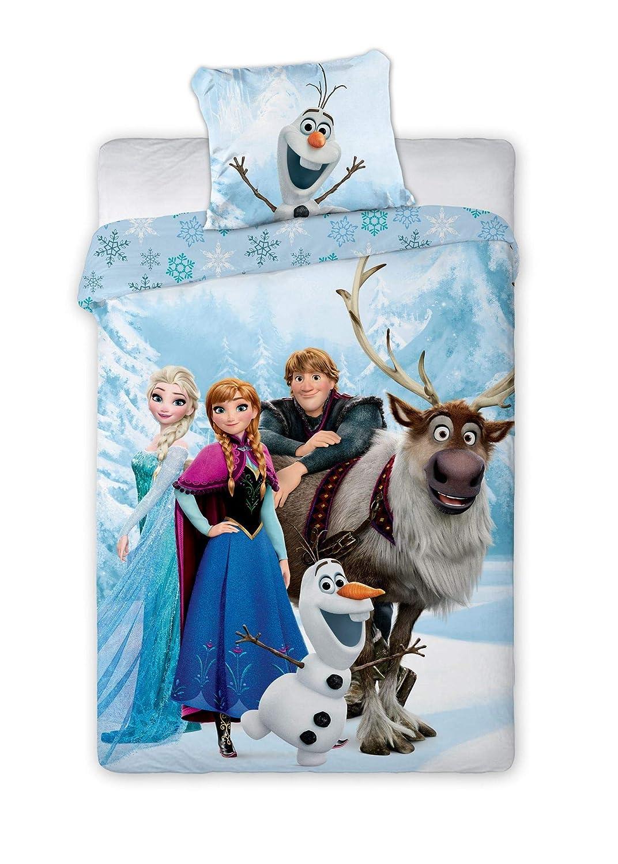 KK Disney Frozen Anna ELSA Olaf M/ädchen Bettw/äsche 80x80 cm 135x200 cm