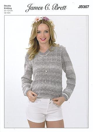 Amazon James Brett Double Knitting Pattern Womens Ladies V Neck