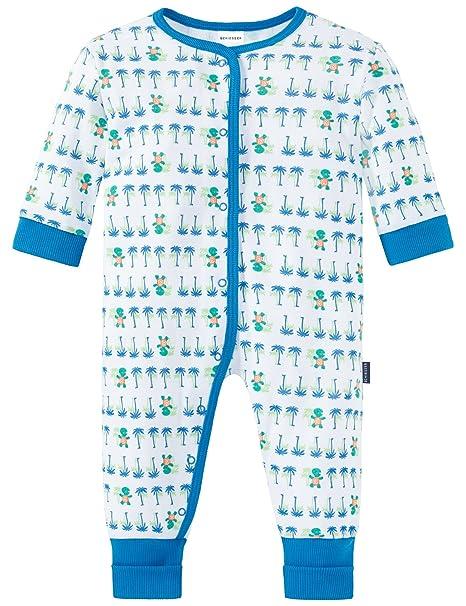 Schiesser Baby Anzug mit Vario Fuß, Conjuntos de Pijama Unisex bebé, Blanco (Weiss