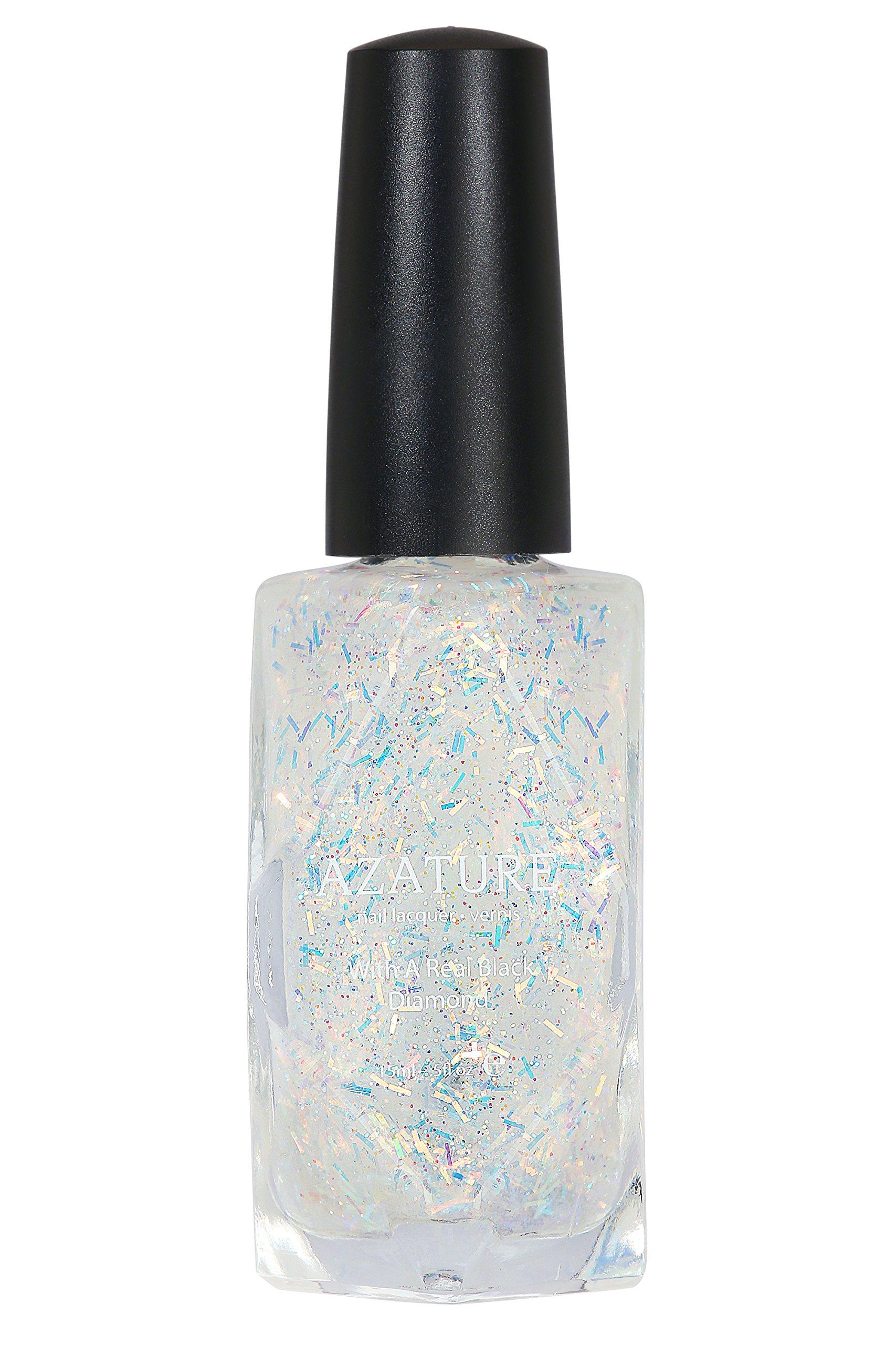 Amazon.com : AZATURE Black Diamond Nail Lacquer, Pink, 0.5 Fluid ...