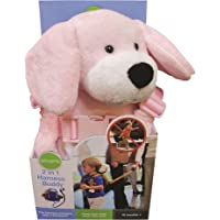 PLAYETTE 2 in 1 Harness Buddy Puppy, Pink