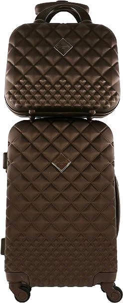 Vanity Tasche 12 l Schokolade Camomilla Milano Set Koffer 30 l