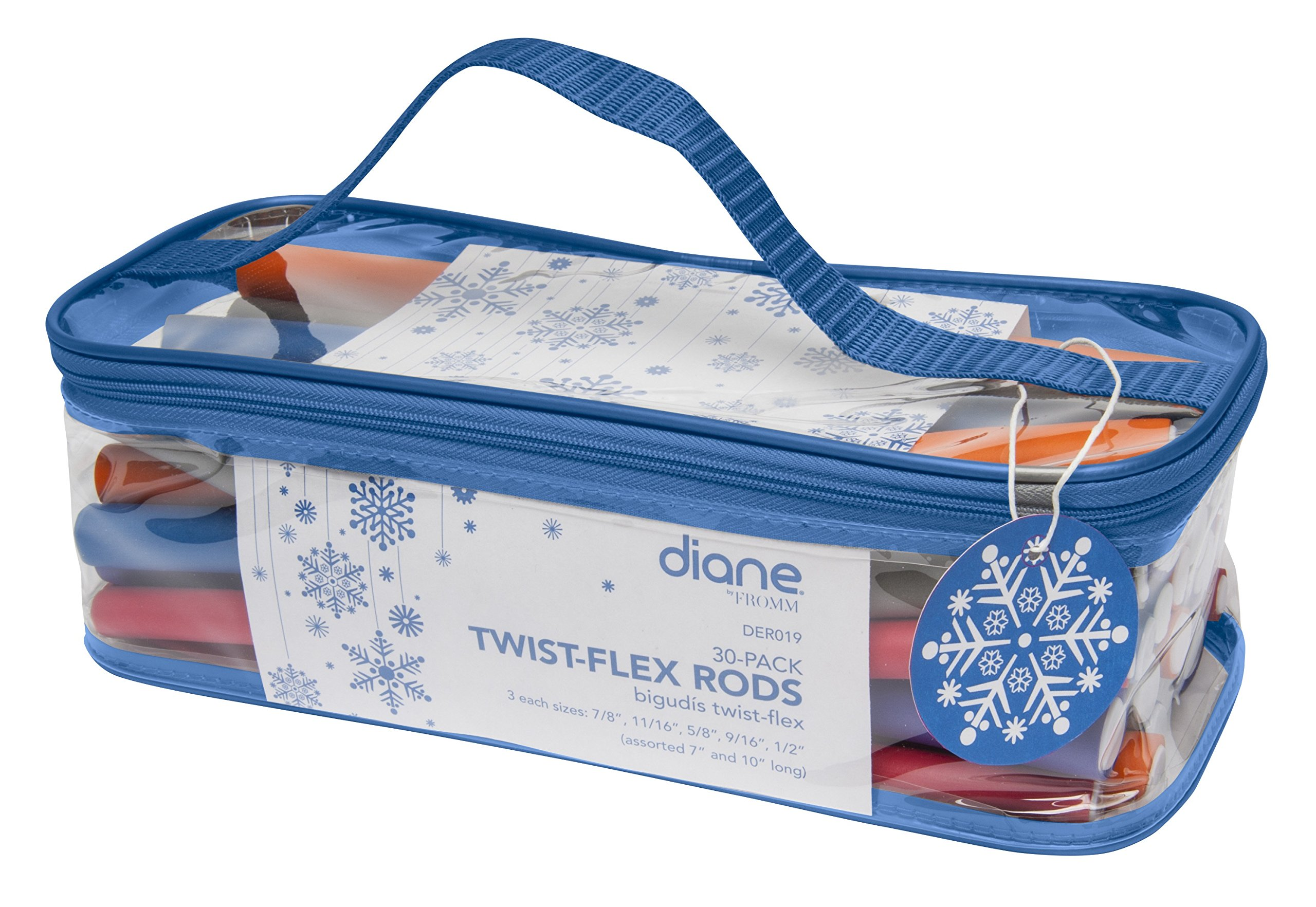 Diane Fromm Holiday Twist Flex Rods 30 Count DER019 Assorted Short and Long Sizes by Diane