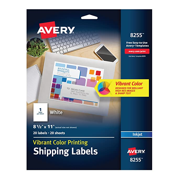 Amazon Avery Color Printing Labels For Inkjet Printers Matte