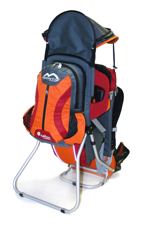 MONTIS EXPLORE EVOLUTION–Kindertrage Max Belastung 25kg, Orange und Rot (2000g), Grau/Orange/Rot Orange und Rot (2000g)
