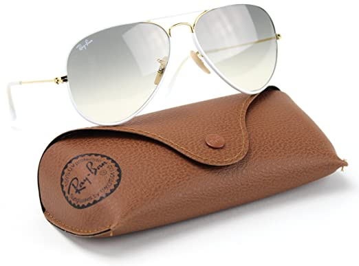 34ca3311a6 Image Unavailable. Image not available for. Color  Ray-Ban RB3025JM 146 32  Sunglasses White Frame   Light Gray Gradient Lens 58mm