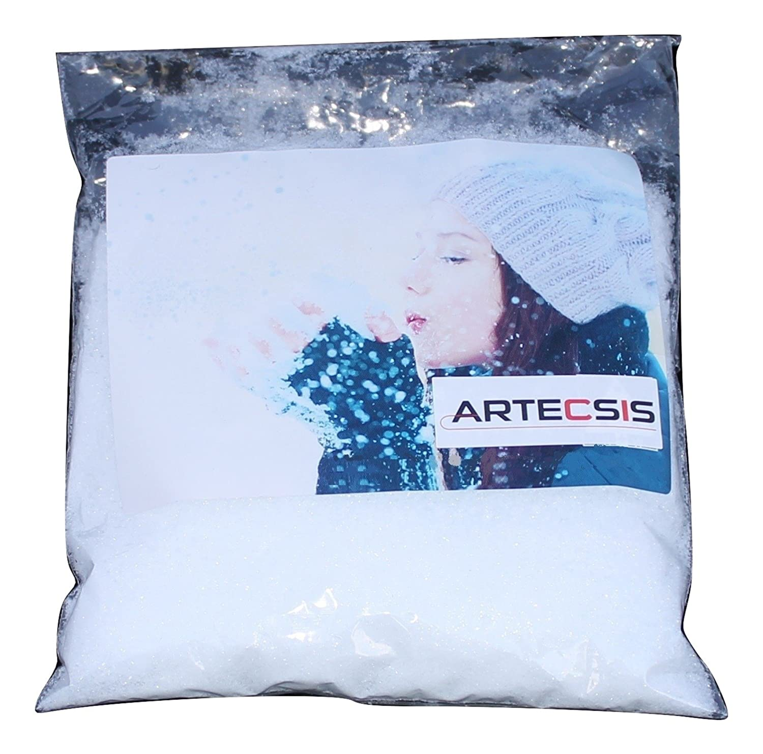 Artificial Snow Fake snow – 1 litre of realistic snow for Christmas or model building indoors and outdoors Artecsis