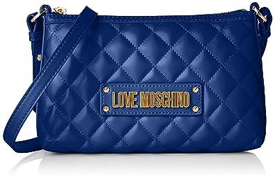 Love À Bandoulière PuSac FemmeBleublu Quilted Moschino Nappa gYb6f7y