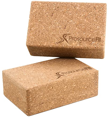 Amazon.com : Prosource Fit Natural Cork Yoga Blocks Set of 2 ...