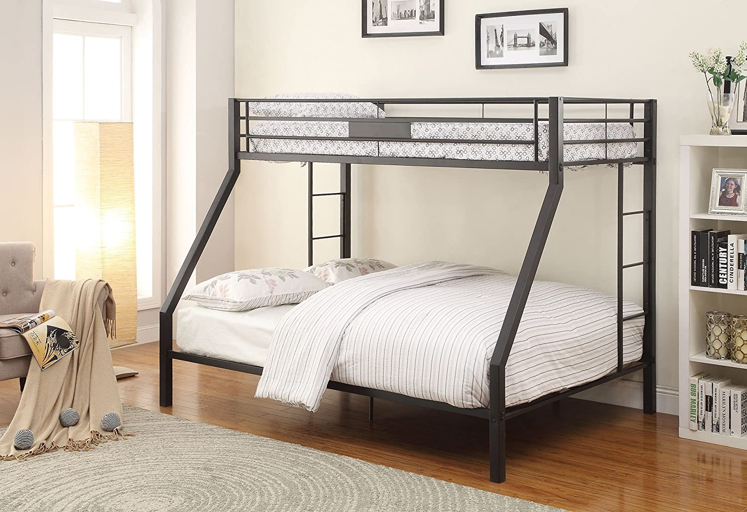Amazon com  ACME Limbra Black Sand Twin XL over Queen Bunk Bed  Kitchen    Dining. Amazon com  ACME Limbra Black Sand Twin XL over Queen Bunk Bed