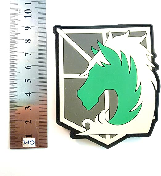 Patch Nation Shingeki No Kyojin ataque en Titan Polic/ía Cosplay Airsoft PVC parche