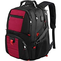Laptop Backpacks,Extra Large Backpack with USB Charging Port,TSA Friendly Travel Computer Backpack for Men and Women, Water Resistant College School Bookbag Fits Most 17 Inch Laptop and Notebook - Red