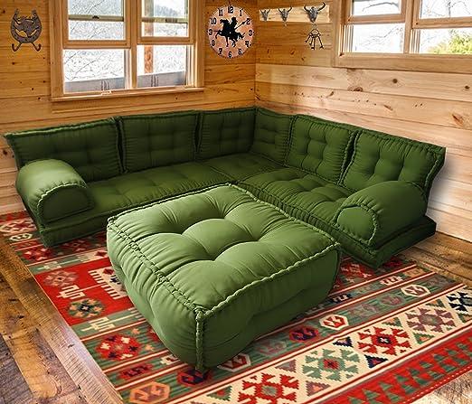 Juego de 76 sofás esquineros con otomán, sofá de nivel de