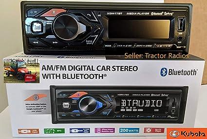 Kioti Tractor Plug /& Play Stereo Radio AM FM Bluetooth NX RX CK Series Cab