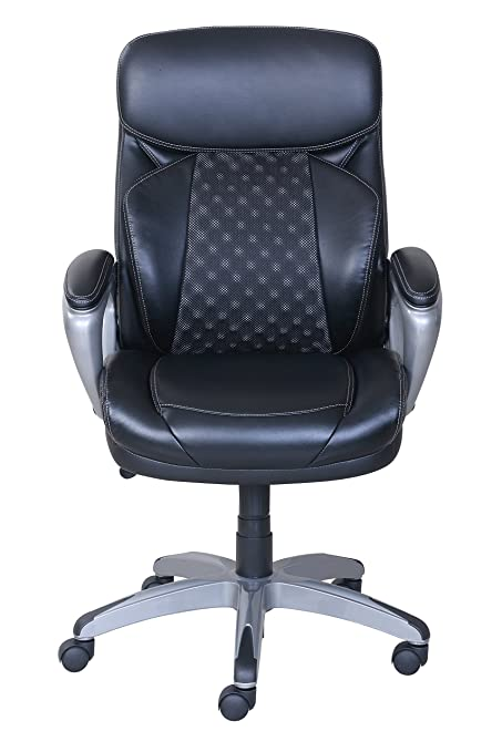 Serta Works Executive Office Chair With Acucell Technology Big Picture Black Bonded Leather