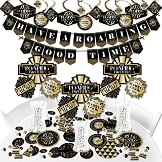 product image for Big Dot of Happiness Roaring 20's - 1920s Art Deco Jazz Party Supplies - Banner Decoration Kit - Fundle Bundle