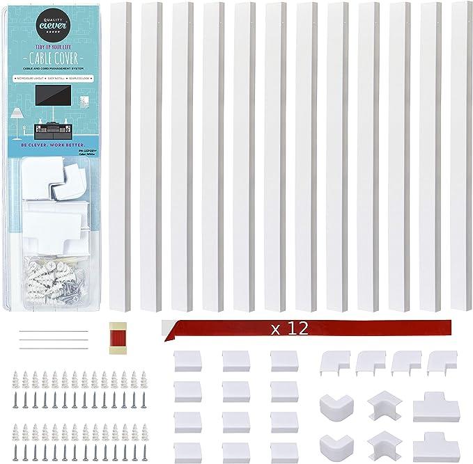 10m 20x10mm profesional canaleta tornillo PVC canal de instalación canal eléctrico