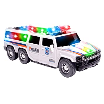 ciftoys police toy car for kids suv cop car with colorful flashing lights sirens