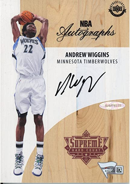 c5b3d55117d Andrew Wiggins Minnesota Timberwolves Autographed Game Used Supreme Hard  Court - Upper Deck - Fanatics Authentic