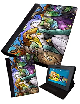 Maléfica Stained Glass   impreso Tablet Plegable Funda ...