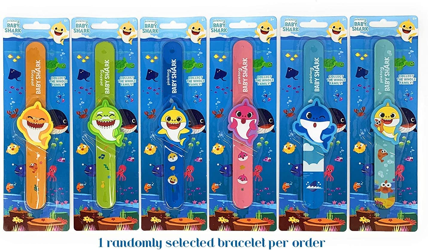 Pinkfong Baby Shark Slap Band Bracelet with Charm