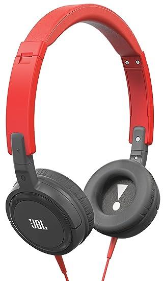 JBL T300A Auriculares supraaurales con mando de control de 1 botón y micrófono, colores rojo y gris: Amazon.es: Electrónica
