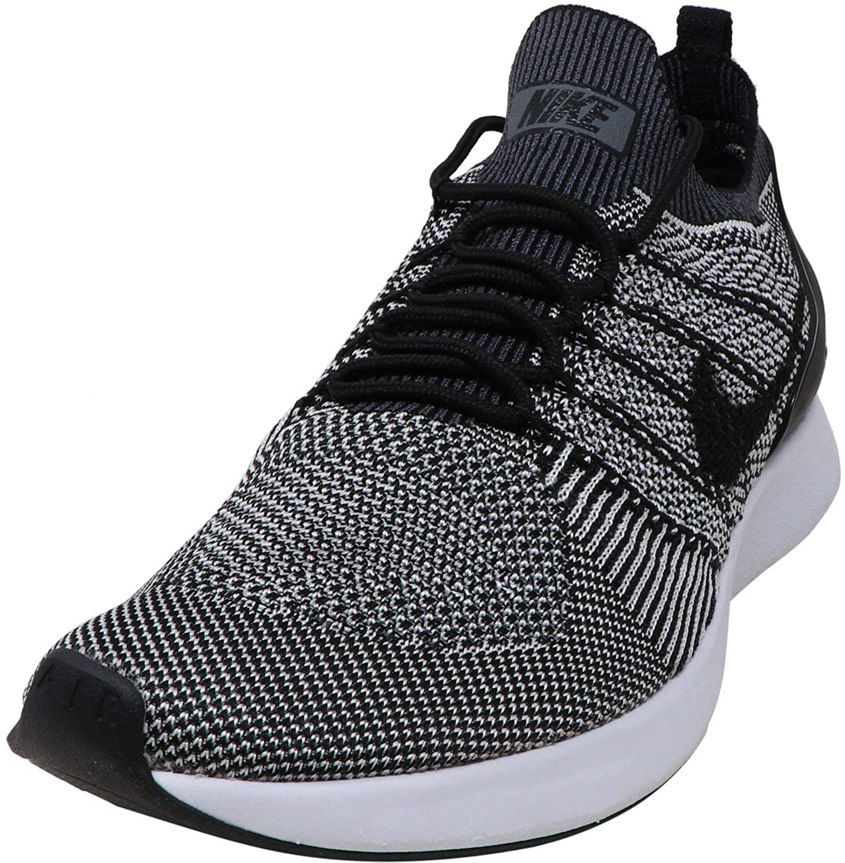 sí mismo Eso surf  Amazon.com | Nike Men's Air Zoom Mariah Flyknit Racer Black/Pure Platinum  Ankle-High Mesh Running - 9M | Road Running