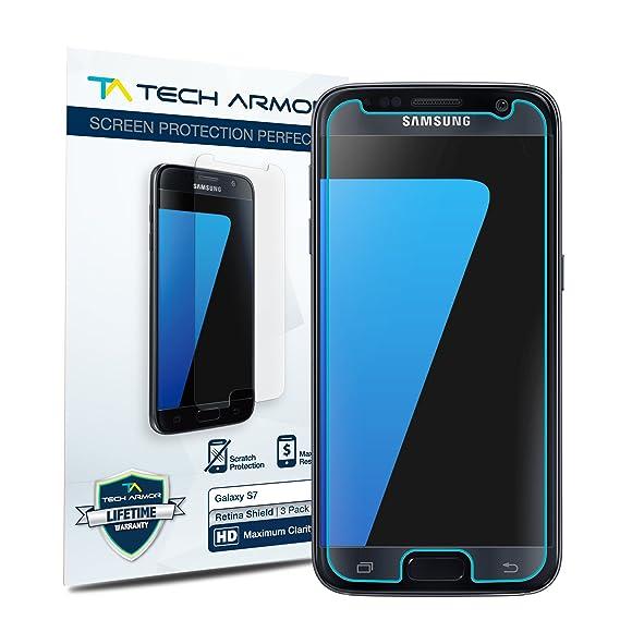Tech Armor - Protector de Pantalla con tecnología RetinaShield para Galaxy S7 de Samsung: Amazon.es: Electrónica