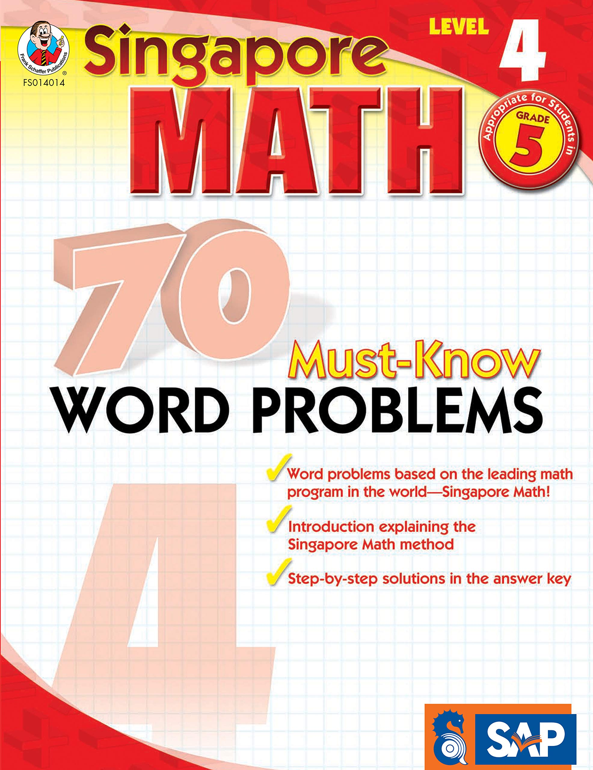 Singapore Math - 70 Must-Know Word Problems Workbook for 5th