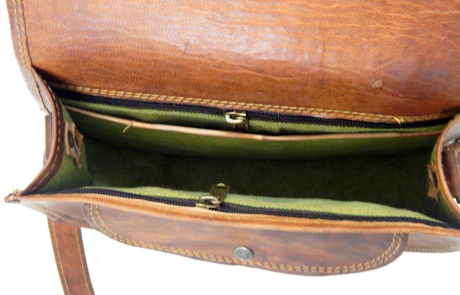 Vintage Handmade Leather Messenger Bag for Laptop Briefcase Best Computer Satchel School distressed Bag (18 INCH) by jsm (Image #5)