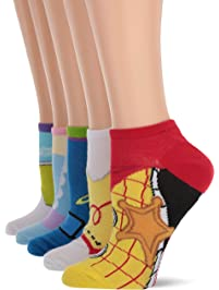 Toy Story womens 5 Pack No Show Socks Casual Sock