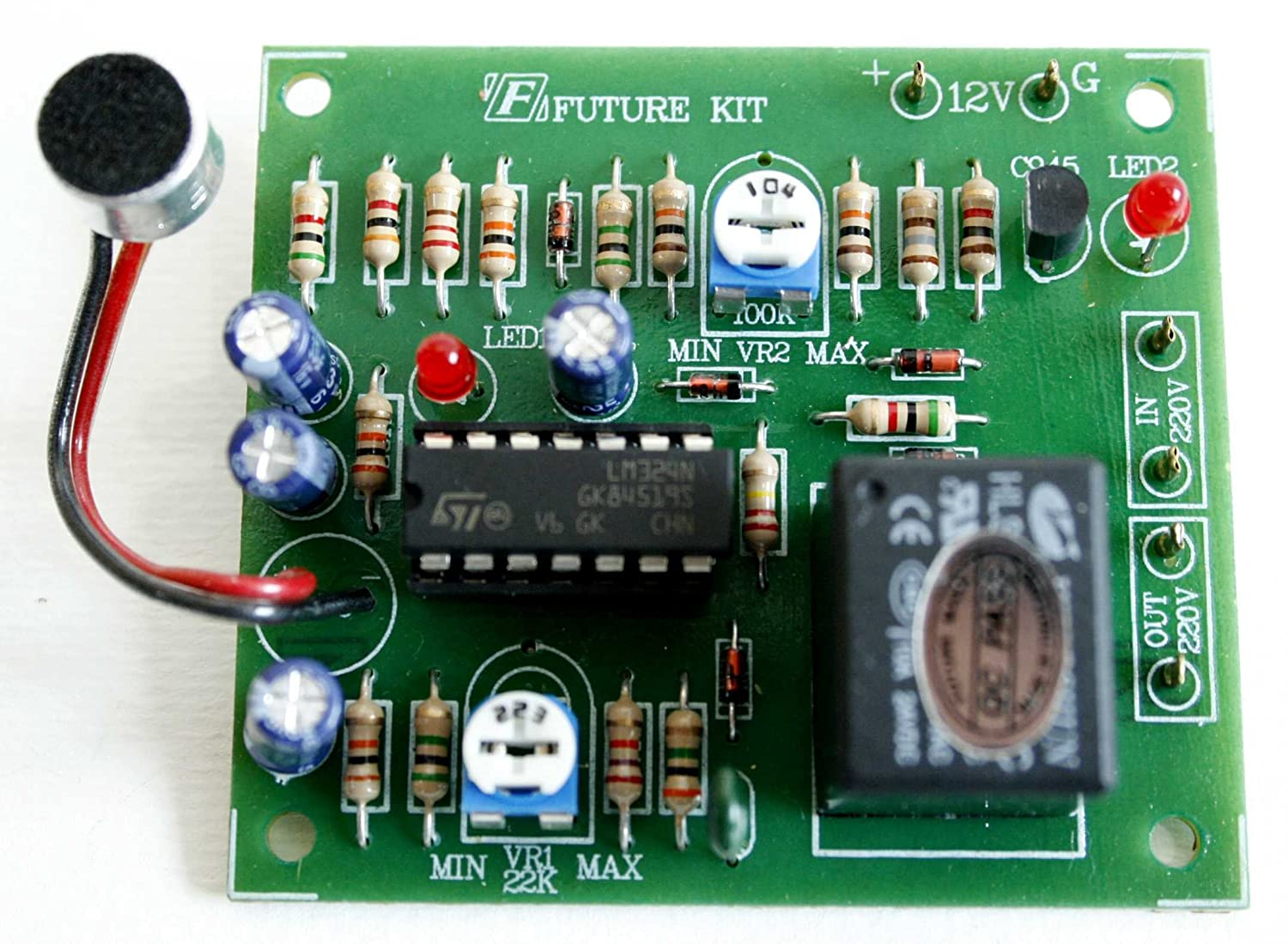 Sound Switch Controller Delay Time Off Relay 12vdc 10a Figure 1 Audio Detector And Switching Circuit Fa408 Computers Accessories