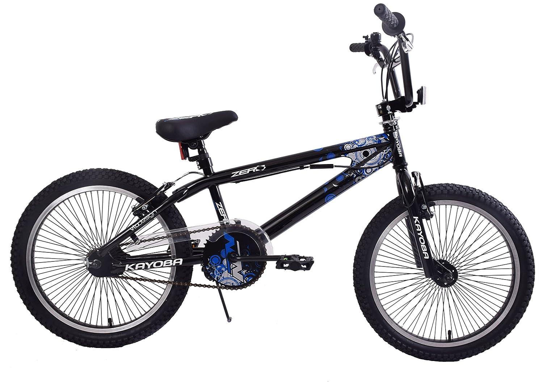 Kayoba Zero 20' Wheel Bike Freestyler Kids BMX Bicycle 360 Gyro 11' Frame Gloss Black Blue