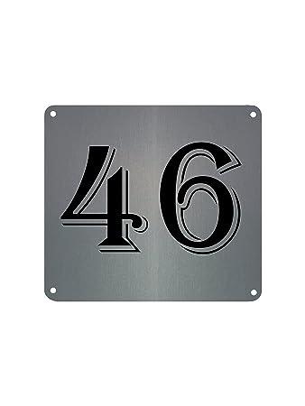 Metall Aluminium Schilder Tür Vorlagen Hausnummer Street Name Custom ...
