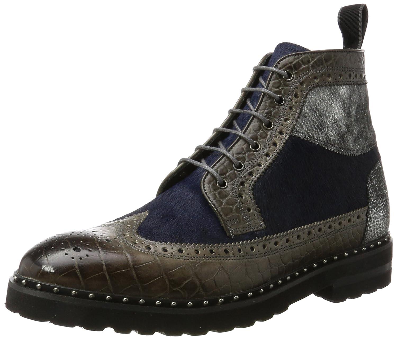 Melvin  Hamilton Herren Matthew 9 Klassische Stiefel Mehrfarbig (Big Croco / Afix / Hairon Stone (1 3) / Graphite Blk (4 5) / Blue (2)  Aspen+ Eva Blk+ Rivets)