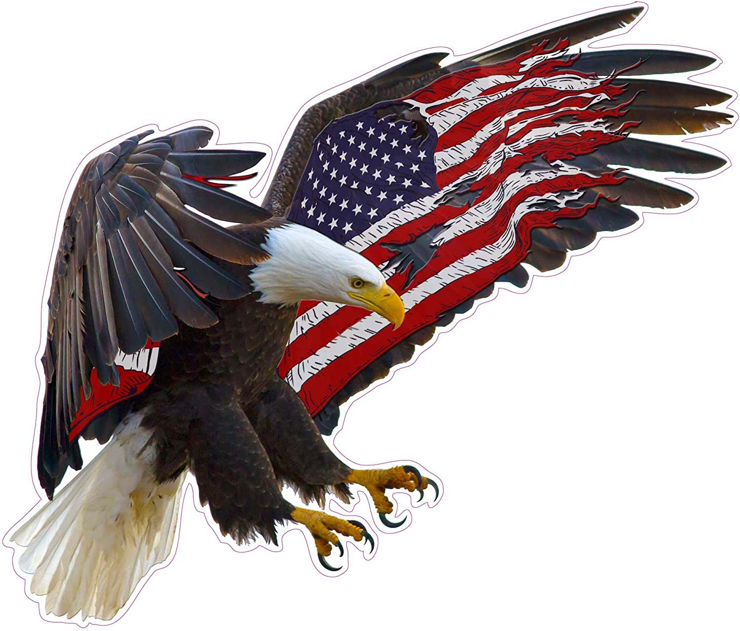 """Patriotic Eagle American Flag 42/"""" x 24/"""" LARGE WALL POSTER PRINT NEW."""