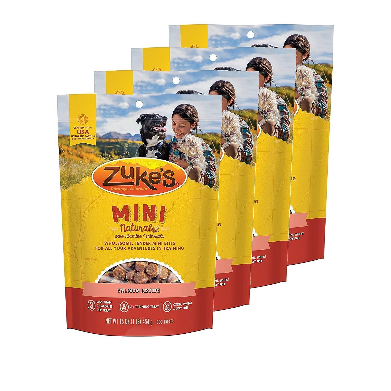 Zuke's Mini Naturals Dog Treats Salmon Recipe 16 oz 4 Pack